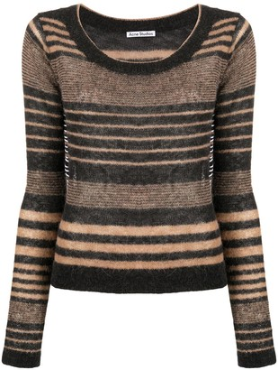 Acne Studios Scoop-Neck Striped Jumper