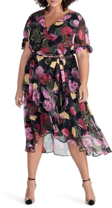 Rachel Roy Rina Floral Print Chiffon Dress (Plus Size)