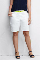 "Classic Women's Plus Size Mid Rise 10"" Chino Bermuda Shorts-Evening Cobalt"