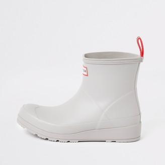 Hunter Wellies River Island Womens Hunter Original Grey short wellington boots
