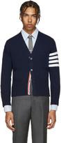 Thom Browne Navy Cashmere Cardigan