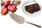 The Cutlery Commission Silver-Plated Personalised Date Cake Slice