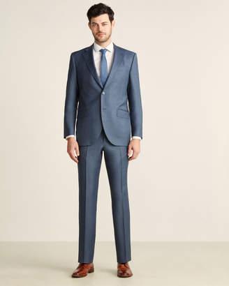 Luigi Bianchi Mantova Zegna Fabric Suits By Two-Piece Blue Sharkskin Suit
