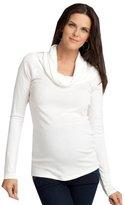 Ingrid & Isabel Women's Maternity Long-Sleeve Cowl-Neck Top