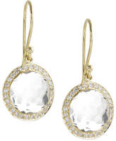 Ippolita Mini Lollipop Diamond Earrings, Clear Quartz