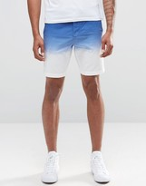 Celio Cotton Short in Slim Fit with Dip Dye Detail