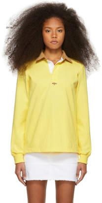 Noah NYC Yellow Corduroy Collar Rugby Polo