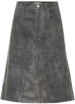 Etoile Isabel Marant Fiali leather midi skirt