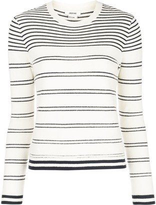 Jason Wu striped crew-neck jumper