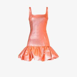 Area Fitted bubble hem dress