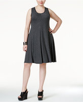 Style&Co. Style & Co. Plus Size Striped Sleeveless Swing Dress, Only at Macy's
