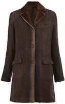 Avant Toi flap pocket coat - women - Linen/Flax/Rabbit Fur/Camel Hair - S