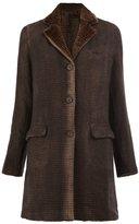 Avant Toi flap pocket coat - women - Rabbit Fur/Linen/Flax/Camel Hair - S