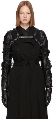 Noir Kei Ninomiya Black Faux-Leather Harness Gloves