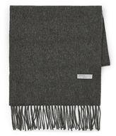Selected Homme Grey 'tope' Wool Scarf