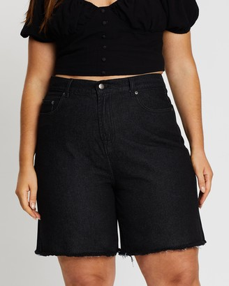 Mika Muse L.A. Nights Longline Denim Shorts