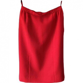 Valentino Red Red Wool Skirt for Women