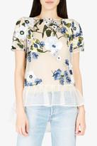 Erdem Noelle Floral-Embroidered Top