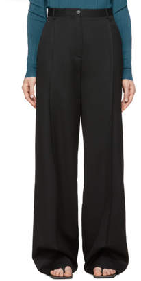Nina Ricci Black Pleated Trousers