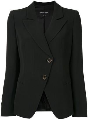 Giorgio Armani Off-Centre Button Jacket