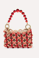 Rosantica Orione Beaded Tote - Orange