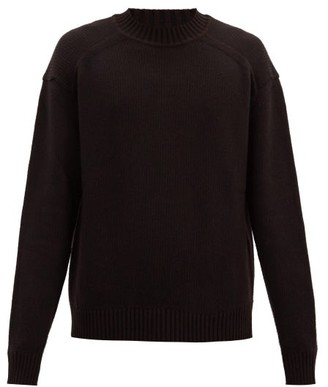 Jil Sander Rib-knitted Wool Sweater - Dark Brown
