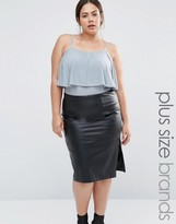 Club L Plus Body With Frill Detail