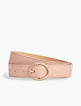 Talbots Soft Pebbled Leather Belt