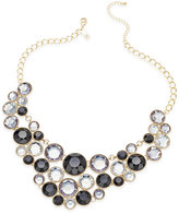INC International Concepts Gold-Tone Black Stone Bib Necklace, Only at Macy's