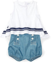 Ralph Lauren Girl Striped Tank & Denim Short Set