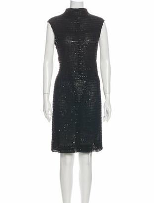 Narciso Rodriguez Turtleneck Knee-Length Dress Black