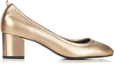 Lanvin Metallic grained-leather pumps