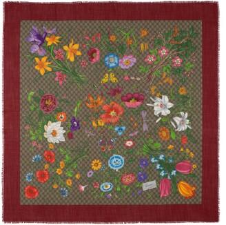 Gucci GG Flora print shawl