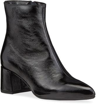 La Canadienne Darling Patent Zip Ankle Waterproof Booties