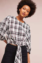 Eri + Ali Tied Plaid Top