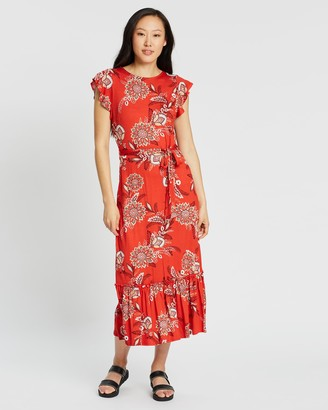 Dorothy Perkins Floral Jersey Midi Dress