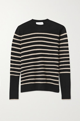 La Ligne Aaa Lean Lines Striped Cashmere Sweater - Black