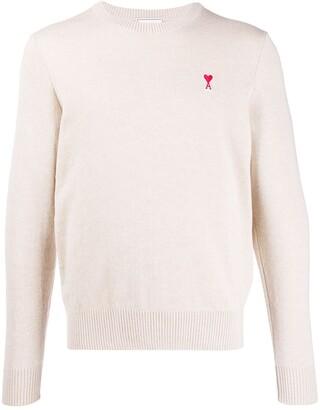 Ami Paris Men crew neck Sweater De Coeur Patch
