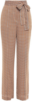 Diane von Furstenberg Printed Stretch-silk Straight-leg Pants