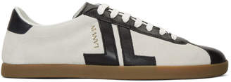 Lanvin Off-White and Black Dual Material JL Sneakers