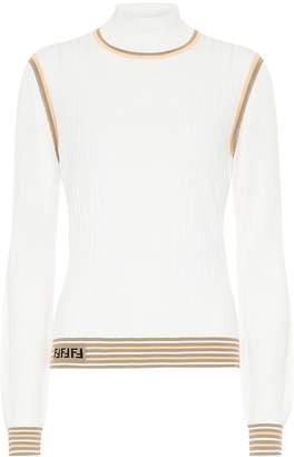 Fendi Silk ribbed-knit sweater