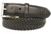 John Deere Men's Leather Braided Comfort Stretch Belt
