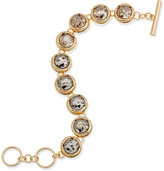 ABS by Allen Schwartz Gold-Tone Crystal Toggle Bracelet