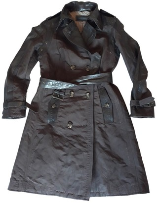 Ventcouvert Brown Leather Trench Coat for Women