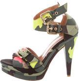 Blumarine Camouflage Platform Sandals