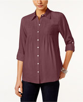 Style&Co. Style & Co. Petite Roll-Tab Shirt, Only at Macy's