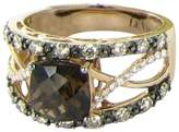 LeVian 14K 2.0cts Quartz 0.72cts Diamond Strawberry Ring Size 7