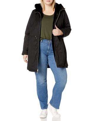 Rachel Roy Women's Reversible Cotton to Fur Jacket