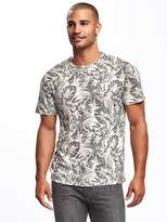 Old Navy Linen-Blend Crew-Neck Tee for Men