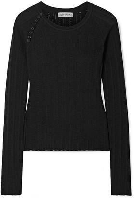 Altuzarra Barca Pointelle-knit Wool And Cashmere-blend Sweater